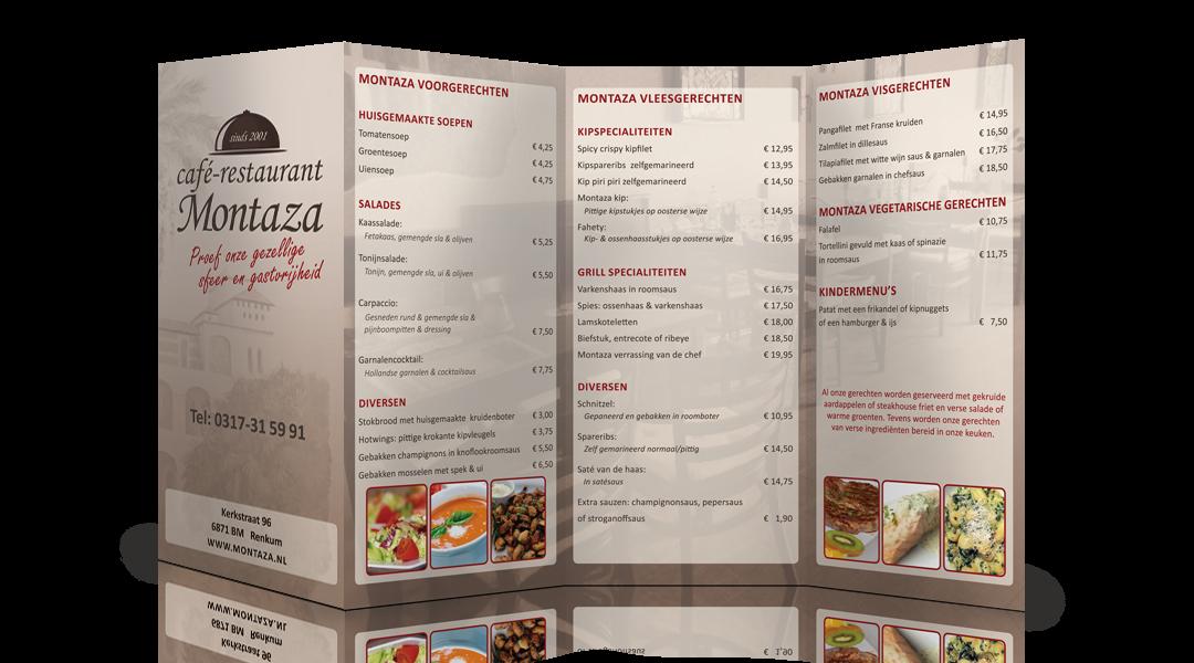 MENU FOLDER CAFÉ-RESTAURANT